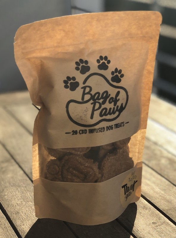 Bag of Paws CBD dog biscuits
