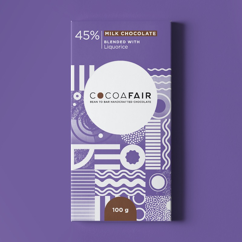 Cocoafair 45% Milk Chocolate with Liquorice