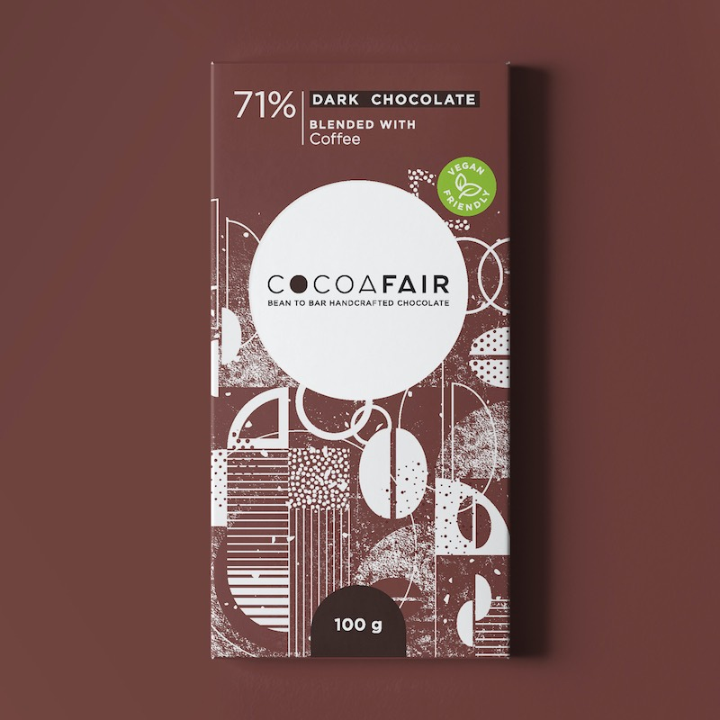 Cocoafair 71% Dark Chocolate with Coffee