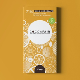 Cocoafair 71% Dark Chocolate with Citrus & Cardamom